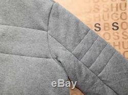 New Hugo Boss Mens Grey Sereno Warm Hooded Fleece Gilet Coat Jumper Suit Jacket