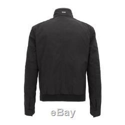 New Hugo Boss Mens Mercedes Amg Petronas F1 Black Biker Coat Jacket Chead 3 £525