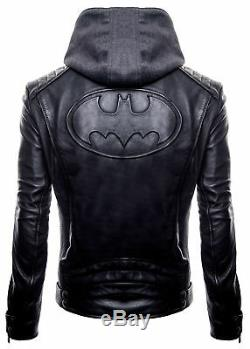 New Justice League Dark Knight Gotham Outlaw Black Batman Logo Hoodie Jacket