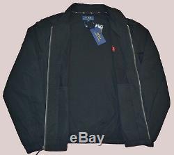 New L Large POLO RALPH LAUREN Mens Bayport cotton windbreaker jacket coat Black