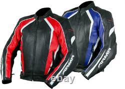New Leather ARMR KATANA Racing Breathable Sports Motorcycle Bike Jacket CE