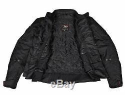 New Men Black Motorcycle Textile Jacket Waterproof Cordura Motorbike CE Armours