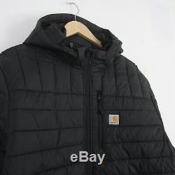 New Mens Carhartt Northman Jacket XXL 2XL Rain Defender Quilted Coat Black BNWT