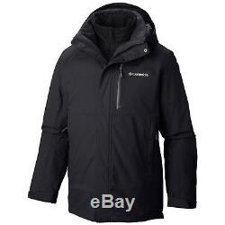 New Mens Columbia Lhotse II 3in1 Interchange Omni-Heat/Tech Winter Jacket Coat