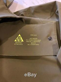 New Nike Nikelab ACG Gore-Tex Hoodie Jacket Acronym Mens Large Olive AQ3516-395