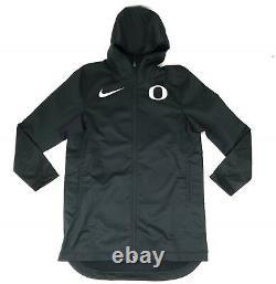New Nike Oregon Ducks Jacket Protect Men's Large Black Basketball AJ6719 Parka