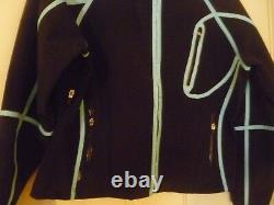 New Obermeyer Womens Ski Snow Jacket Black Lt. Blue comfort breathable warm 14
