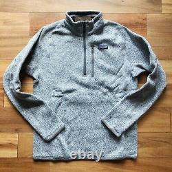 New Patagonia Mens 2XL XXL Better Sweater Fleece 1/4 Zip Jacket Pullover Gray