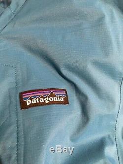 New Patagonia Mens Large Balkan Blue Stretch Rainshadow Jacket