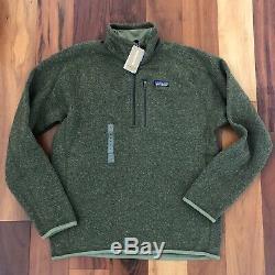 New Patagonia Mens Medium M Better Sweater Fleece 1/4 Zip Jacket Pullover Green