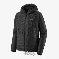 New Patagonia Nano Puff Hoody Lightweight Insulated Jacket Black Mens 84222