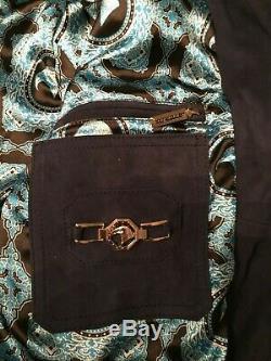 New Stefano Ricci Men's Navy Luxury Suede & Crocodile Jacket $16k Size 56