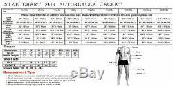 New Suzuki Hayabusa Black Men Motorbike Motorcycle Racing Leather Jacket Xs-3xl
