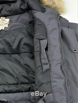 New Timberland Parka Jacket Mens Size L Grey Waterproof Breathable