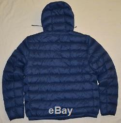 New XL POLO RALPH LAUREN Mens packable puffer down jacket coat Navy blue X-Large