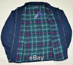 New XXL 2XL POLO RALPH LAUREN Mens Cotton Windbreaker Jacket Spring coat Navy