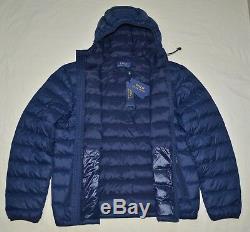 New XXL 2XL POLO RALPH LAUREN Mens quilted packable puffer down jacket Navy coat