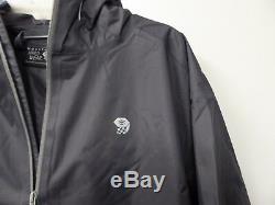 New-men's Mountain Hardwear Finder Rain Jacket-grey- Asst Sizes- Om6489 -$87.50