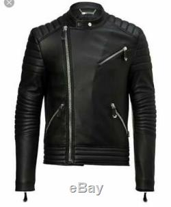 New philipp plein flying money cowhide leather jacket in all sizes