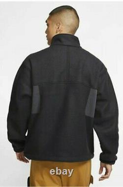 Nike ACG Microfleece Mens Hoodie Jacket Black Size M Sportswear Fleece Full Zip