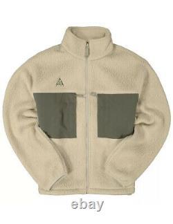 Nike Acg Microfleece Sherpa Jacket Khaki CT2949-247 Men Size Large