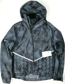 Nike Aeroloft Men Repel Reflective Running Jacket Dark Grey Bv5699-021 M