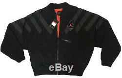 Nike Air Jordan Legacy Retro Nylon Windbreaker Men's L Black Gray Jacket NWT