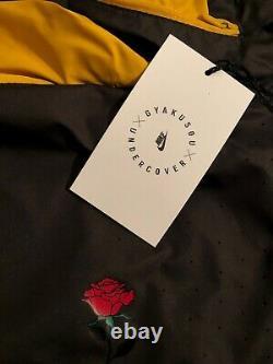 Nike Gyakusou ½ Zip Hooded Jacket Running Pewter Mineral Yellow Sz M CD7107-274