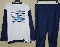 Nike Jordan XI Retro 11 Win Like 96 Suit Jacket + Pants White Blue New (2xl Xl)