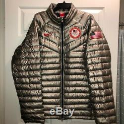 Nike Mens L Aeroloft Summit 800 Down Olympic Podium Jacket 614215 070 USA XL