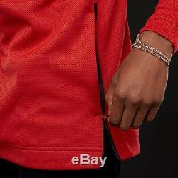 Nike NBA Chicago Bulls Therma Flex Showtime Hoodie Jacket Red Black 940118-657