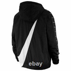 Nike NSW Swoosh Woven Logo Mens Jacket Black Multi Size Sportswear Full Zip