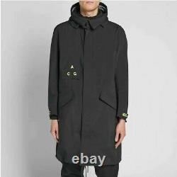 Nike NikeLab ACG GORE-TEX Hooded Jacket Men's Size 2XL Black Volt AQ3516-010