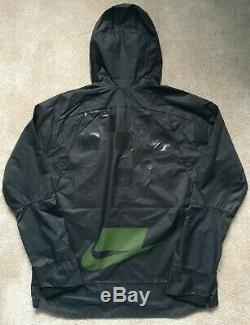 Nike Shield Flash Running Jacket Black Hooded Mens Size Large BV5615010 LAST ONE