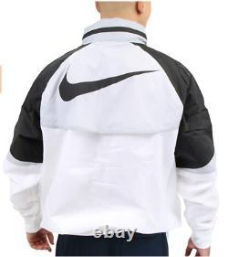 Nike Sportswear Windrunner Hooded Jacket Mens Size S White Black CN8770-100