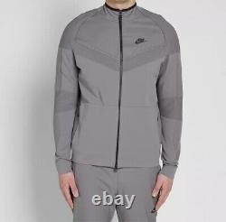 Nike Tech Fleece Knit Jacket Gunsmoke & Black Rrp£219 Size Medium New With Tags