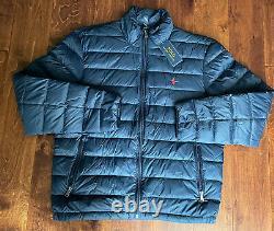 Nwt Polo Ralph Lauren Water Repellent Navy Blue Packable Down Jacket Sz L