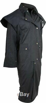 Oilskin Duster Western Australian Drover Coat Waterproof 5XL 6XL