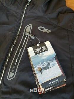 Outdoor Research Ascendant Hoody Jacket Large Black / Pewter hike climb active