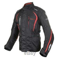 Oxford Subway 2.0 Textile Waterproof Motorcycle Motorbike Jacket Black Red
