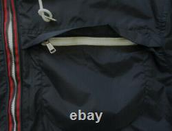 POLO Ralph Lauren Jacket Hooded Rain Boat Coat Navy Blue Lightweight Large New