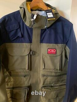 Polo Ralph Lauren Hi Tech Army Green Waterproof Anorak Jacket NWT, Size XL $598