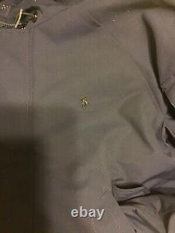 Polo Ralph Lauren Mens Blue Down Puffer Hooded Bomber Jacket Coat XL