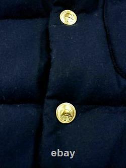 Polo Ralph Lauren Mens Preppy Bullion Crest Embroidered Wool Down Jacket Vests