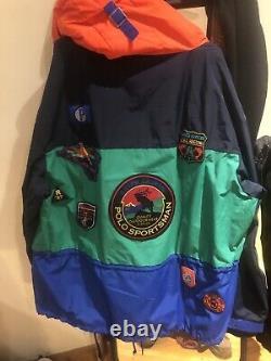 Polo Ralph Lauren Sport Sportsman Anorak Half-Zip Jacket Mens Colorblock 2XL XXL