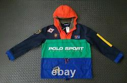 Polo Ralph Lauren Sportsman Anorak Half-Zip Shearling Hooded PARKA M