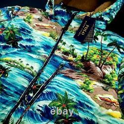 Polo Ralph Packable Down Puffer Hooded Jacket Lauren Hawaiian Tropical $398 XL