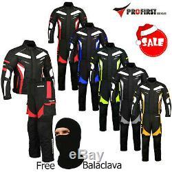 Proviz Mens Ce Armour Winter Motorbike Motorcycle Textile Jacket Trousers Suit