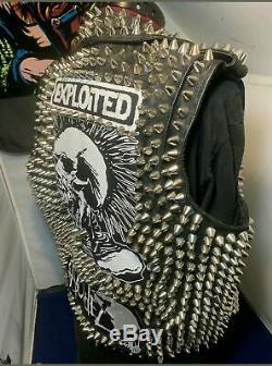 Punk Studded Leather Vest Jacket Silver Studs Kanye West Snl Mad Max Movie Props