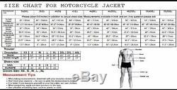 RTX Motorbike Leather Jacket Ducati Style Motorcyle Bikers Racing Protection